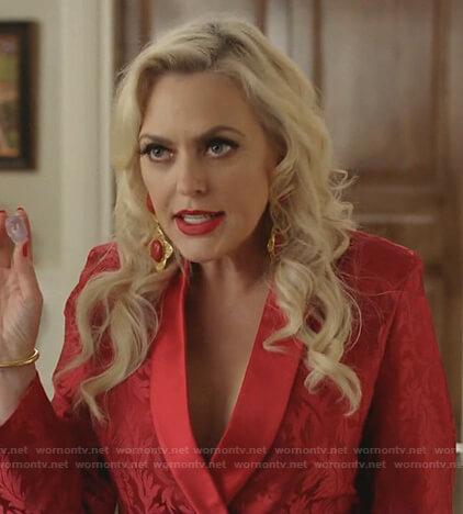 Alexis's red blazer on Dynasty