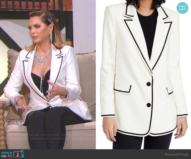 Elna Long Blazer by Alice + Olivia  worn by D'Andra Simmons  on The Real Housewives of Dallas