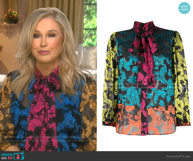 Jeannie Blouse by Alice + Olivia worn by Kathy Hilton  on The Real Housewives of Beverly Hills