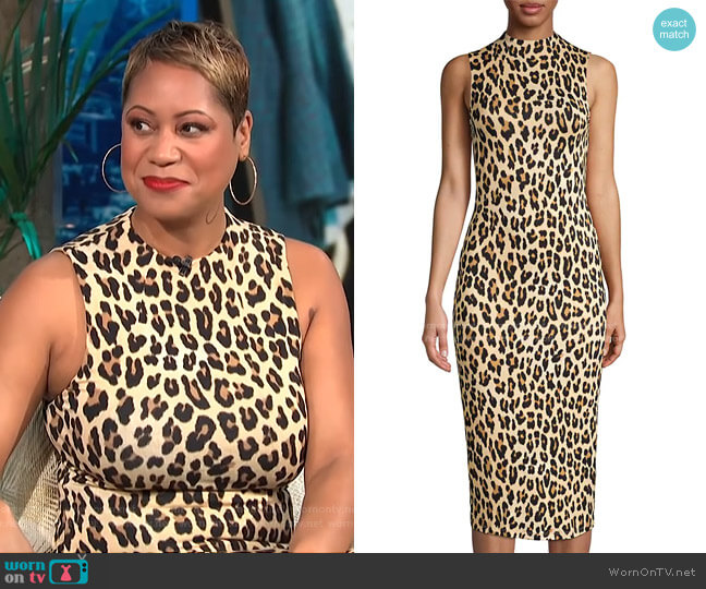Delora Dress by Alice + Olivia worn by Monique Kelley on E! News Daily Pop