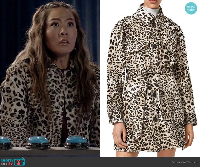 All Saints Suzie Leopard Jacket worn by Mary Hamilton (Nicole Kang) on Batwoman