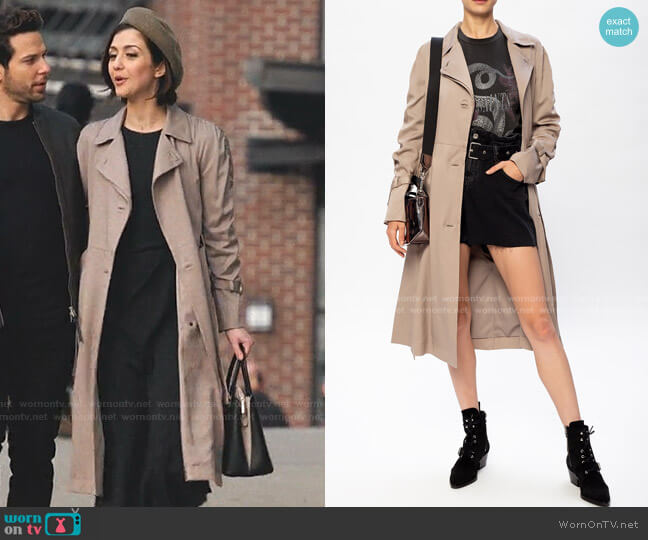 Ceci Coat by All Saints worn by Rosanna Williams (Katie Findlay) on Zoeys Extraordinary Playlist