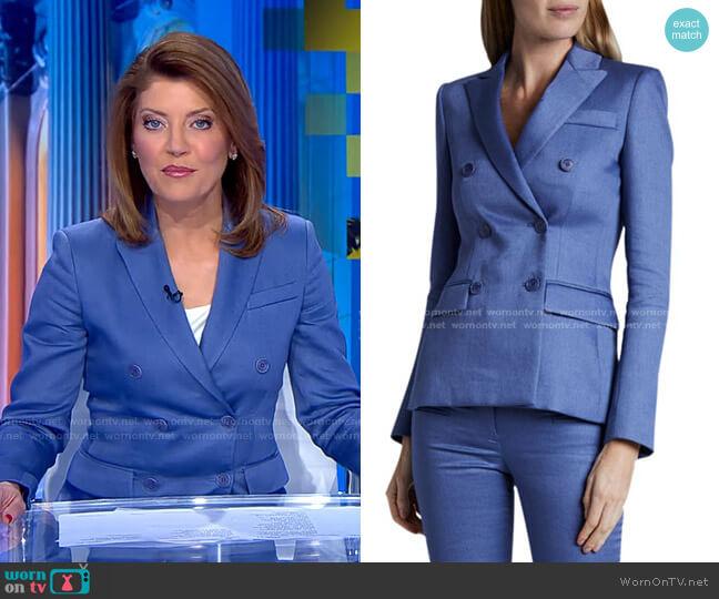 Indiana Linen Jacket by Altuzarra worn by Norah O'Donnell  on CBS Evening News