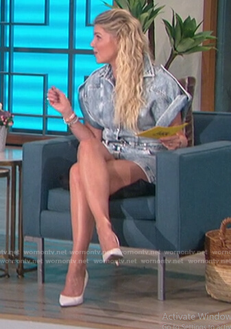 Amanda's denim romper on The Talk