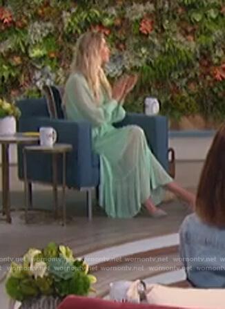 Amanda's mint sheer dress on The Talk