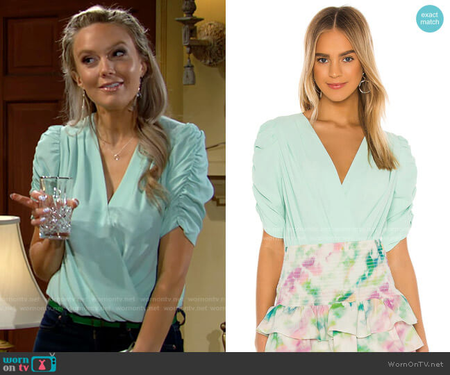 Amanda Uprichard Arabella Bodysuit worn by Abby Newman (Melissa Ordway) on The Young & the Restless