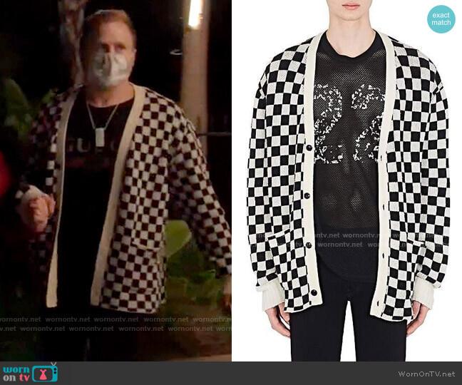 Amiri Checkered Cashmere Cardigan worn by Spencer Pratt  on The Hills New Beginnings