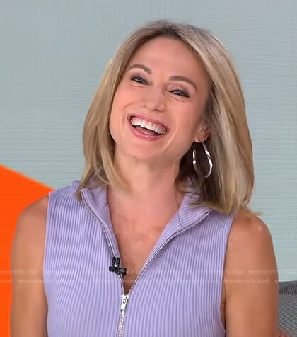 Amy's lilac zip front dress on Good Morning America