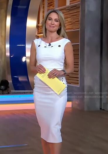 Amy's white grommet dress on Good Morning America