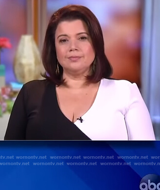 Ana's two-tone wrap jumpsuit on The View
