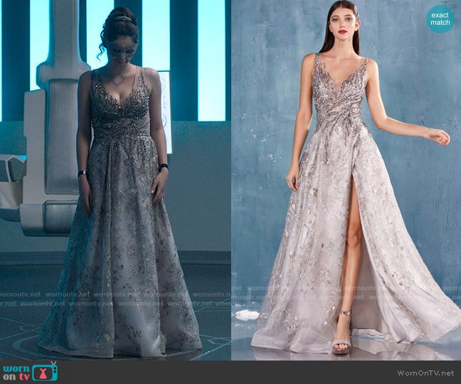 Andrea & Leo Krystine Gown worn by Nia Nal (Nicole Maines) on Supergirl
