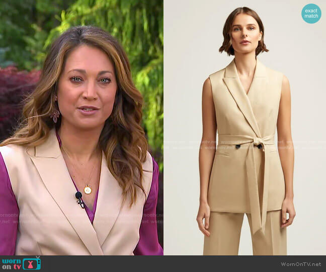 Belted Vest by Argent worn by Ginger Zee  on Good Morning America