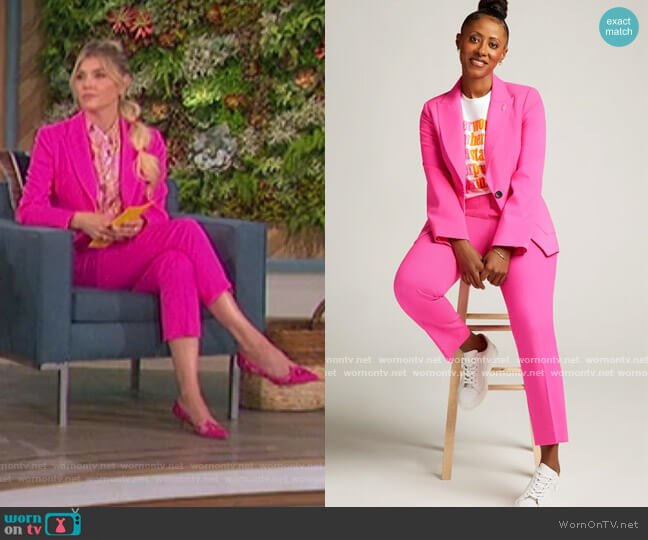 Supermajority Blazer and Trousers by Argent worn by Amanda Kloots  on The Talk