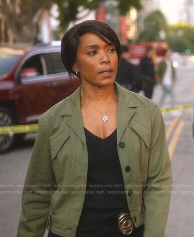 Athena's green jacket on 9-1-1
