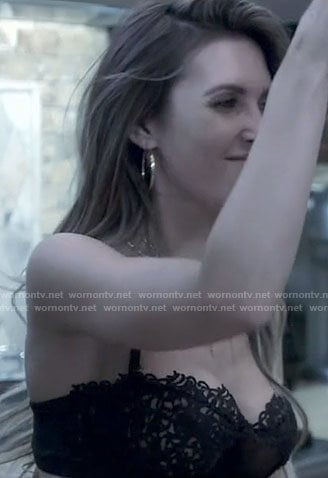 Audrina's black bra on The Hills New Beginnings
