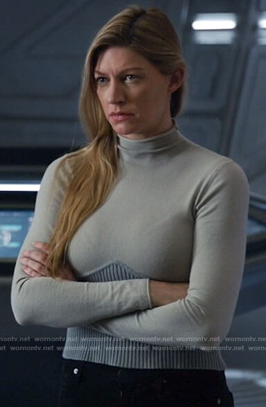 Ava's corset look sweater on Legends of Tomorrow