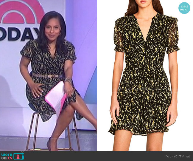 Matcha Dress by Ba&Sh worn by Sheinelle Jones  on Today