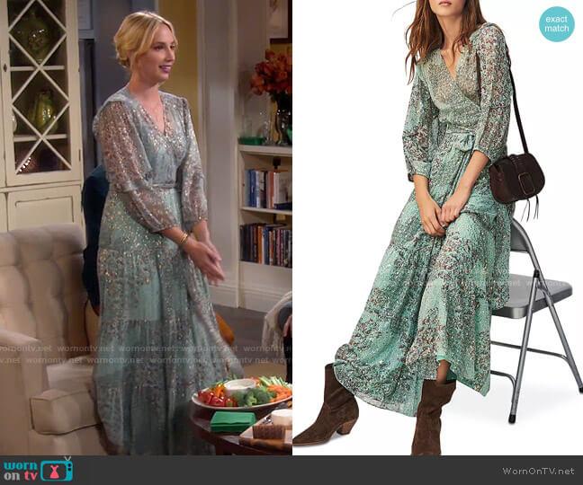 ba&sh Oriane Dress worn by Mandy Baxter (Molly McCook) on Last Man Standing