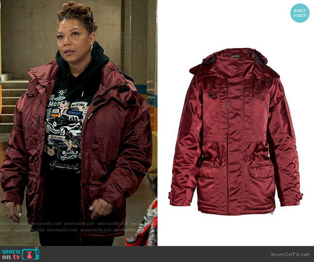 Balenciaga Incognito Oversized Parka Jacket worn by Robyn McCall (Queen Latifah) on The Equalizer