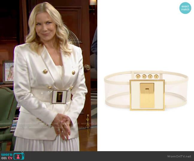 Balmain Corset Waist Belt worn by Brooke Logan (Katherine Kelly Lang) on The Bold & the Beautiful