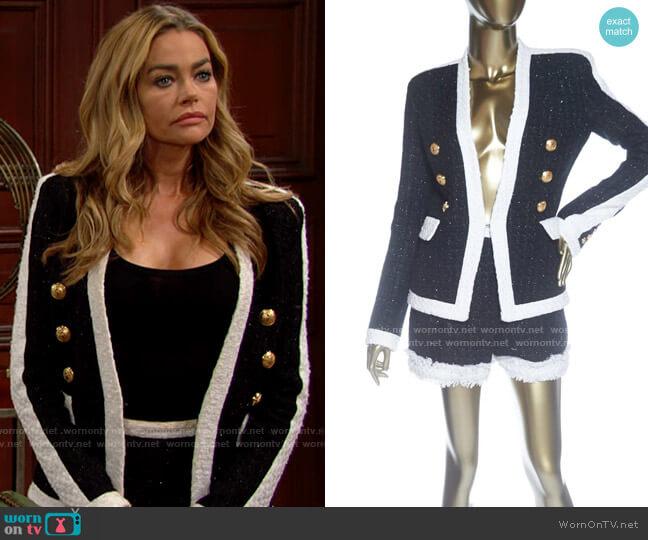 Balmain Tweed Jacket & Shorts Set worn by Shauna Fulton (Denise Richards) on The Bold & the Beautiful