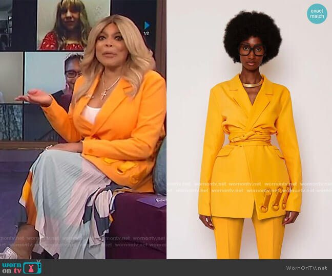 Sunflower BB Suit Jacket by BBX Brand worn by Wendy Williams  on The Wendy Williams Show