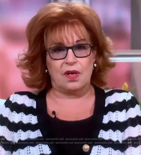 Joy's stripe cardigan on The View