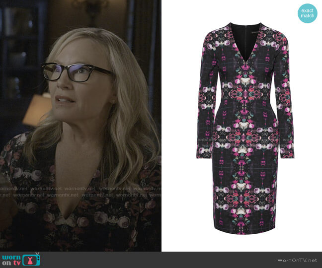 Mindy Printed Cady Dress by Black Halo worn by Linda Martin (Rachael Harris) on Lucifer