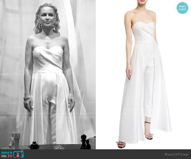 Black Halo Caine Jumpsuit worn by Sharon Collins (Sharon Case) on The Young & the Restless