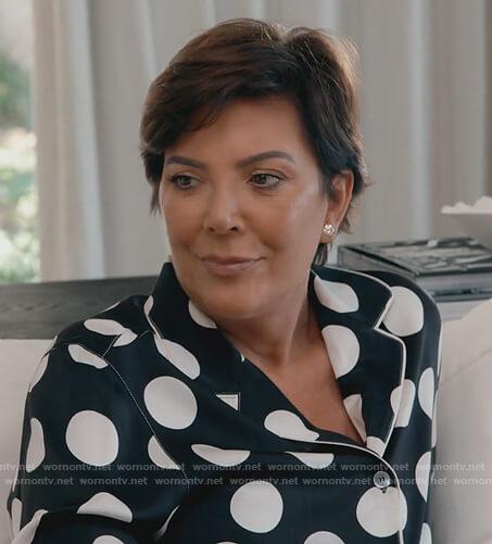 Kriss's polka dot pajama shirt Keeping Up with the Kardashians