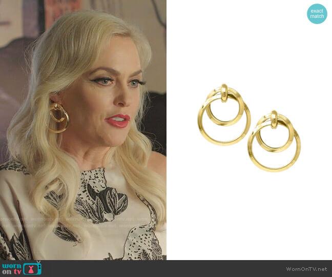 Laurene Hoop Earrings by Bonheur worn by Alexis Carrington (Elaine Hendrix) on Dynasty