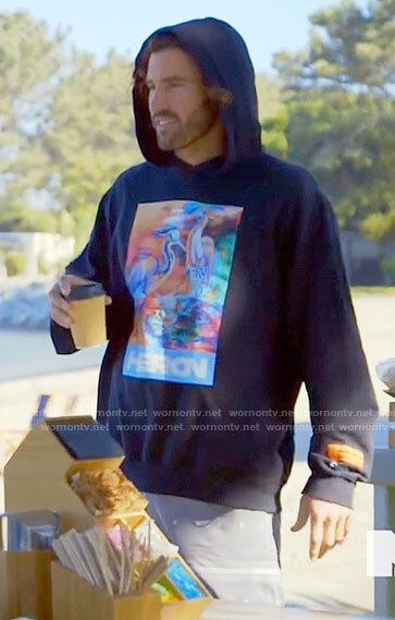 Brody's Heron graphic hoodie on The Hills New Beginnings