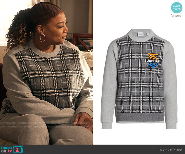 Burberry Regent TB Plaid Cotton Sweatshirt worn by Robyn McCall (Queen Latifah) on The Equalizer