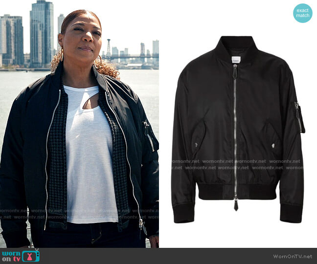 Burberry Mermaid Applique Bomber Jacket worn by Robyn McCall (Queen Latifah) on The Equalizer