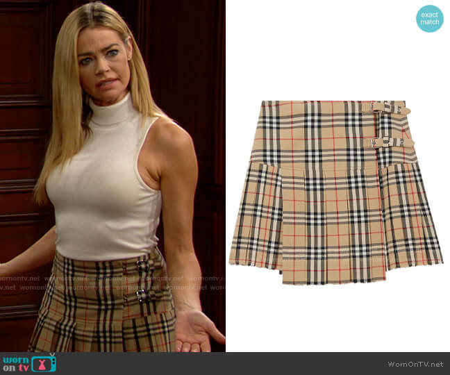 Burberry Vintage Check Kilt worn by Shauna Fulton (Denise Richards) on The Bold & the Beautiful