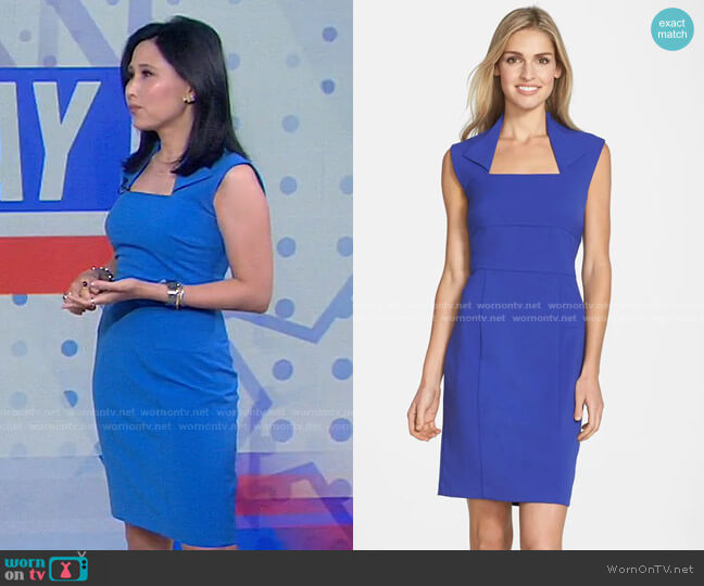 Collar Stretch Sheath Dress by by Andrew Marc by Marc New York worn by Vicky Nguyen  on Today