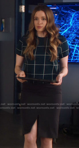 Iris's plaid blazer on The Flash