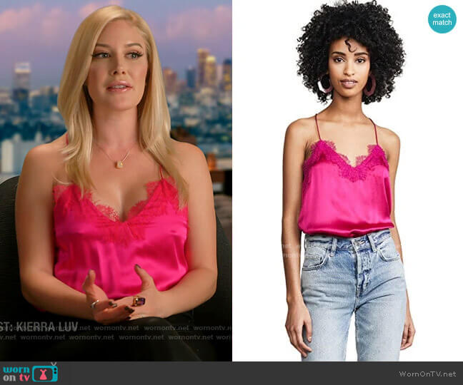 Cami NYC Racer Lace Cami in Fuchsia worn by Heidi Montag  on The Hills New Beginnings