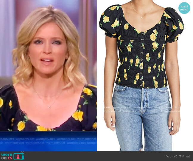 Sofi Top by Caroline Constas worn by Sara Haines  on The View