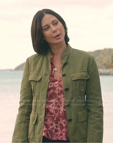 Monica's orange leopard blouse on Good Witch
