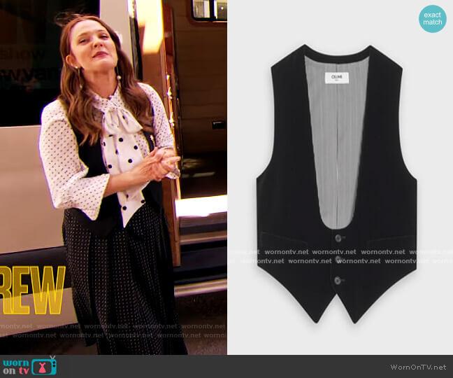 U-neck Vest in Velvet worn by Drew Barrymore  on The Drew Barrymore Show