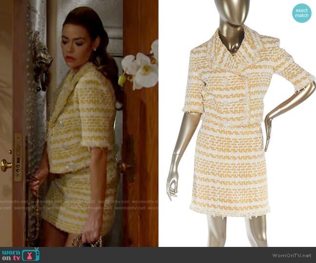 Chanel Cropped Tweed Jacket & Skirt Set worn by Shauna Fulton (Denise Richards) on The Bold & the Beautiful