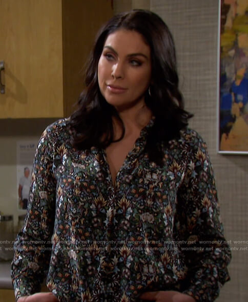 Chloe's floral v-neck blouse by Days of our Lives