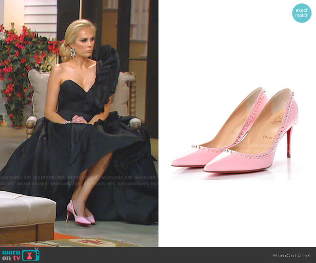 Patent Anjalina Pumps by Christian Louboutin worn by Kameron Westcott  on The Real Housewives of Dallas