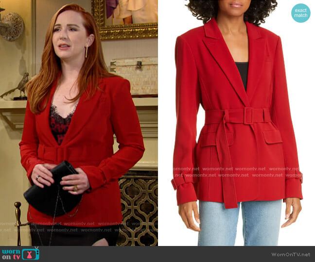 Cinq a Sept Corina Blazer worn by Mariah Copeland (Camryn Grimes) on The Young & the Restless
