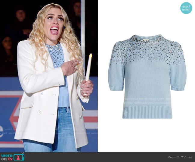 Cinq a Sept Lisa Sweater worn by Summer Dutkowsky (Busy Philipps) on Girls5eva
