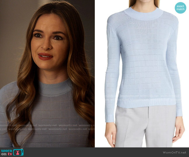 Club Monaco Everywear Crewneck Sweater worn by Caitlin Snow (Danielle Panabaker) on The Flash