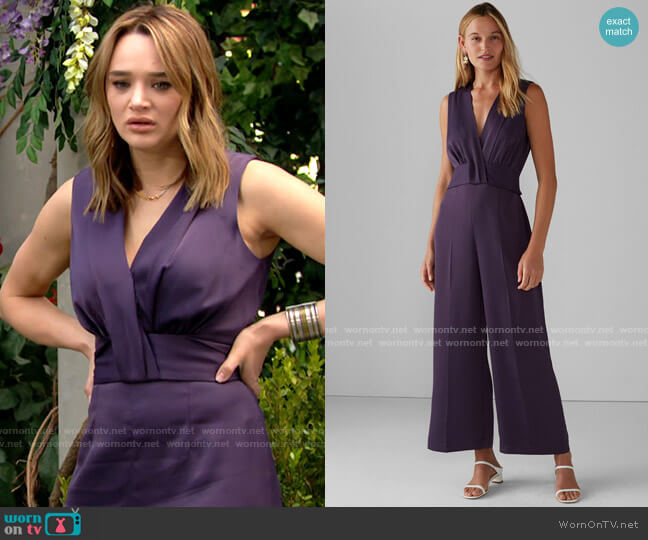 Club Monaco Tie Back Jumpsuit worn by Summer Newman (Hunter King) on The Young & the Restless