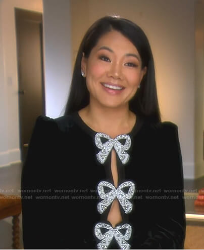 Erika's pink and black tie dye turtleneck top on The Real Housewives of Beverly Hills