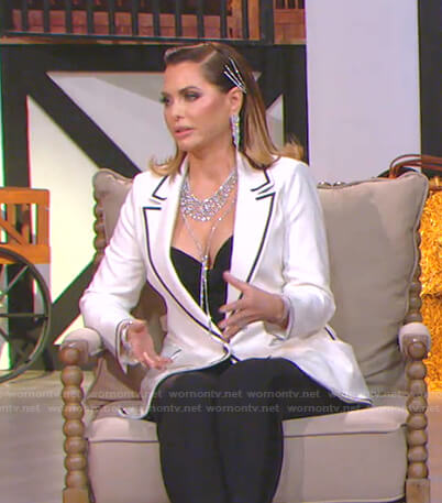 D'Andra's white blazer on The Real Housewives of Dallas